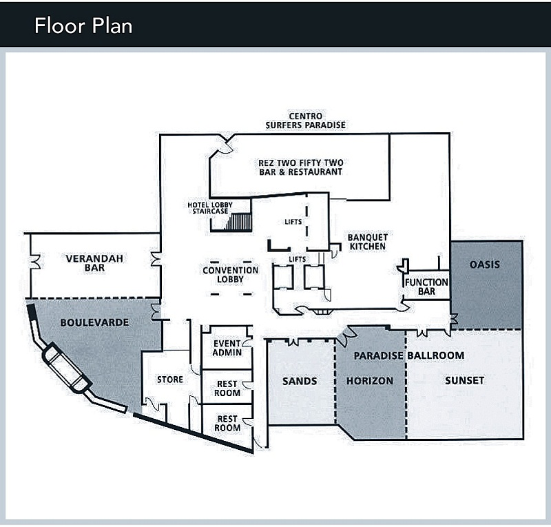 Grand Chancellor Surfers Paradise Conference Floor Plans
